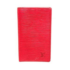 Louis Vuitton Red Epi Leather Pocket Agenda Cover